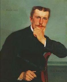 Pleins feux sur Felix Vallotton (1865-1925) - Parkstone Art Blog Camille Pissarro, Renoir, Felix Vallotton, Art Nouveau, Portrait, Art Blog, Modernism, Writers, Artists