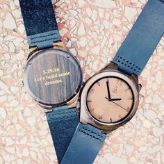 """""""Let's build some dreams"""" personalized wood watch, anniversary gift, gift for him from #Treehut Co."""