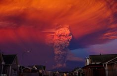 Up in smoke: The Calbuco eruption, in southern Chile, forced 1,500 residents from Ensenada...