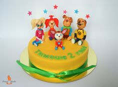 Торт барбоскины, барбоскины фигурки, детский торт барбоскины, kids cake idea, fondant figures topper