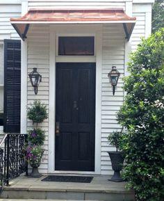 Project Gallery - Metal Canopy Design - Design Your Awning Metal Door Awning, Front Door Awning, Door Overhang, Garage Door Windows, Garage Door Styles, Porch Doors, Window Awnings, Front Door Colors, Front Doors