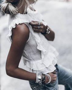 Casual look for the weekend Boho Tops, Casual Chic, Boho Chic, Casual Jeans, Look Fashion, Fashion Outfits, Summer Outfits, Cute Outfits, Paris Mode