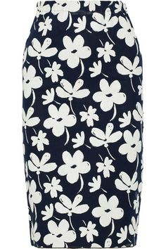 { Floral Pencil Skirt }