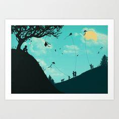 On Melancholy Hill Art Print by Jay Fleck - $16.00