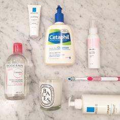 A fashion director's bathroom essentials