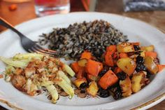 Roasted Sweet Potato Apple Casserole with Wild Rice Recipe - Gluten Free, Vegan