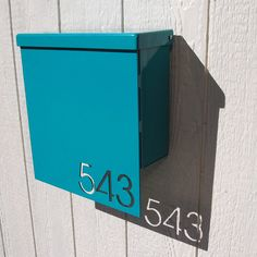 Custom House Number Mailbox No. 1310 Drop Front in Powder Coated Aluminum Box: 13 wide, 10 tall, 4 deep in aluminum. Drop-front: 13 X 14 in Mailbox Numbers, House Numbers, Contemporary Mailboxes, Modern Mailbox, Modern Leather Sofa, Door Accessories, House Front, Front Porch, Home Signs