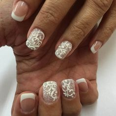 awesome french nails designs 2016 - style you 7 Elegant Nail Designs, French Nail Designs, Best Nail Art Designs, Neutral Nail Art, White Nail Art, Finger Nail Art, Toe Nail Art, Acrylic Nails, Grunge Nail Art