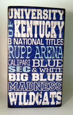 This University of Kentucky Basketball Wood shows or says everything UK fans love. It's almost like UK fans can't have enough UK basketball things in their houses. Uk Wildcats Basketball, Kentucky Basketball, Kentucky Wildcats, College Basketball, Basketball Crafts, Basketball Skills, Louisville Kentucky, Football, Go Big Blue