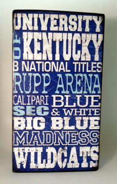 university of kentucky basketball crafts | University of Kentucky Basketball Wood Sign-Go ... | Kentucky Wildcats