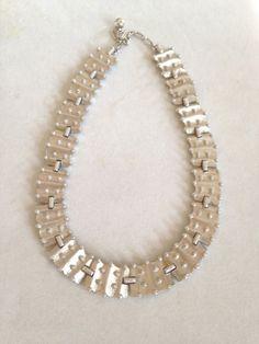 Modernist Trifari Silver Necklace Choker Mid Century by BrickCity