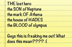 """It also says """"neptune and Athena."""" Gaea said she preferred percy and annabeth's blood!!!!!! It's a sign!!!!!!!!!!!! OH NO!!!!!!!"""