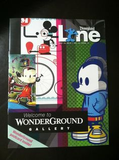 My Warm Up Mickey made it on the cover of Disneyland Line magazine.