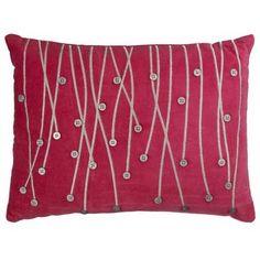 Pink velvet button cushion (inspiring)