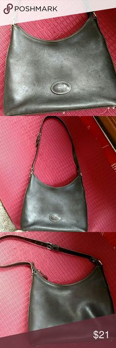 Vintage Dooney Bourke Purse Hobo style gently used with smudges and ink marks on inside Bags Shoulder Bags