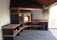 cozinhas rusticas com churrasqueira e forno lenha - Pesquisa Google