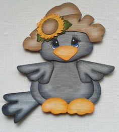 Items similar to made to order tiny treasure crow paper piecing for scrapbook and card making by my tear bears by kira on Etsy Fall Crafts, Crafts To Make, Arts And Crafts, Paper Crafts, Paper Punch Art, Fall Clip Art, Bird Quilt, Paper Piecing Patterns, Tiny Treasures