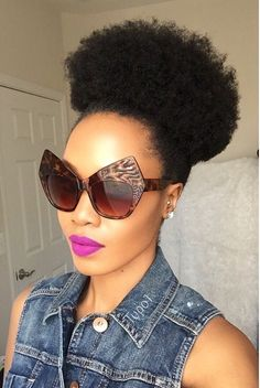 ***Try Hair Trigger Growth Elixir*** ========================= {Grow Lust Worthy Hair FASTER Naturally with Hair Trigger} ========================= Go To: www.HairTriggerr.com ========================= Ain't Nothing Betta Than a Fierce Lip, Some Statement Sunglasses, and a Huge Puff!!!