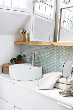Better than size: a consistent living style - picture Besser als Größe: ein konsequenter Wohnstil – Bild 6 It& the design that matters! With these tiles your … - Decor, Home Diy, Small Bathroom, Home And Living, Bathroom Decor, Interior, Bad Design, Home Decor, Bathroom