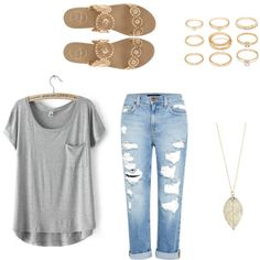 Casual by devon-wheelis on Polyvore featuring polyvore, fashion, style, Genetic Denim, Jack Rogers and Forever 21