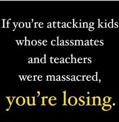 Not only are these people who are attacking these Kids Losers, they are the WORST OF AMERICANS!! Who does that?? It's Awful!!