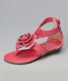 Take a look at this Fuchsia Rose Gladiator Sandal by Carrini on #zulily today!