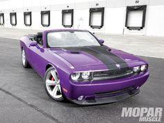 Convertible Dodge Challenger. Sweet.
