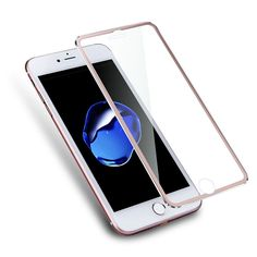 AGREAL Alloy Edge Tempered Glass Screen Protector Full Cover For iPhone 7 Plus 7 Coverage Protection For iPhone 6 Glass Protector, Tempered Glass Screen Protector, Iphone 6 Glass, Iphone 6 Screen Protector, Cell Phones In School, Best Cell Phone, 6s Plus, Iphone 7 Plus, Apple Iphone