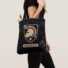 United States Military Academy Distressed Graduate Tote Bag military day, wife appreciation day, gifts for veterans Wife Appreciation Day, United States Military Academy, Gifts For Veterans, Edge Design, Louis Vuitton Monogram, Graduation, Reusable Tote Bags, Presents, Gifts