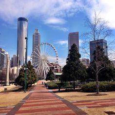 Centennial Park, Downtown Atlanta. Photo by: mandiengram