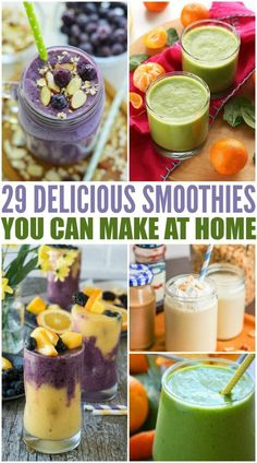 These delicious smoothie recipes are sure to please all. Smoothies are great in flavor and provide many great vitamins and nutrients for a healthy diet.