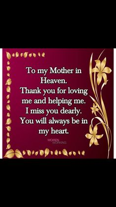 Always & Forever! Mother In Heaven, To My Mother, Mothers Love, Mom I Miss You, Love You Mom, Mom And Dad, Birthday In Heaven Quotes, Mom In Heaven Quotes, Mother Quotes