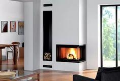 Modern Corner Fireplace Design Ideas.