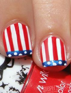 9 Amazing Patriotic Nails for the 4th of July! Wet n wild polish too