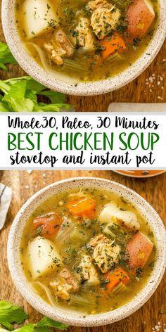 Healthy Soup Recipes, Veggie Recipes, Whole Food Recipes, Dinner Recipes, Paleo Soup, Keto Recipes, Whole30 Soup Recipes, Whole 30 Crockpot Recipes, Free Recipes