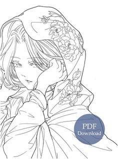 Pdf Download Fallen City Anime Art And Classic Chinese Portrait Coloring Book Kayliebooks Coloring Books Coloring Book Art People Coloring Pages