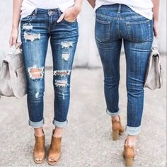 """243 Likes, 10 Comments - 🇺🇸Red White And Boutique🇺🇸 (@redwhiteandboutique) on Instagram: """"The best selling distressed denim with frayed hem (two different styles) . You will want to get…"""""""