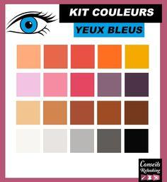 Quelles couleurs de fard à paupières choisir ? Conseils Relooking vous fournit la liste des couleurs à porter/à éviter en fonction de la couleur des yeux.