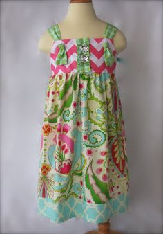 Easter Dress Knot Style by GurleyGirlBoutique on Etsy, $32.50