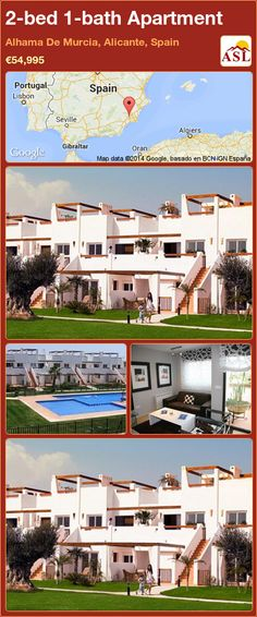 2-bed 1-bath Apartment in Alhama De Murcia, Alicante, Spain ►€54,995 #PropertyForSaleInSpain