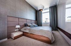Nowoczesna sypialni w brązach i beżach
