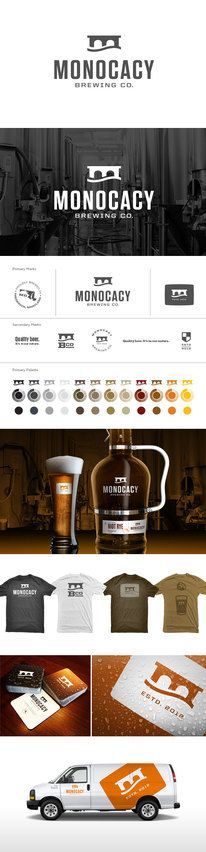 Brewing & Beer / Monocacy Brewing Co. Branding — Designspiration  Beautiful examples of full branding packages. It is amazing what a bold and consistent image can do for ones marketing and advertising.    Transition Marketing Services | Okanagan Small Business Branding & Marketing Solutions  http://www.transitionmarketing.ca