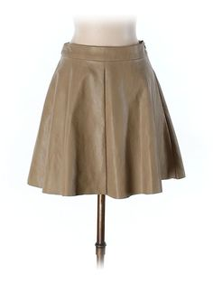 Olivaceous Faux Leather Skirt-small or x-small