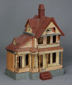 Red Roof Bliss Doll House, Queen Anne Cottage | Sale Number 2355, Lot Number 666 | Skinner Auctioneers