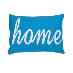 Modern homes require bold accents like this home pillow in a cyan hue. The soft, white embroidery adds a whimsical touch!