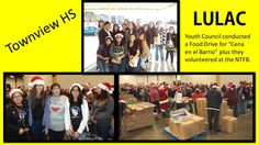 LULAC Youth Council collected cans and volunteered at the NTFB