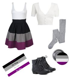"""""""Asexual"""" by rebellious-ingenue ❤ liked on Polyvore featuring Forever 21, Red Herring, Mihoko Saito, ACE, asexy and asexual"""