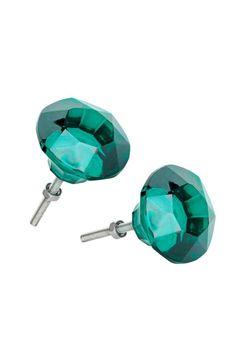 Puxadores, pack de 2: Puxadores de vidro. Diâmetro: 4,5 cm.