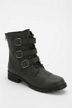 Deena & Ozzy Lauren Buckle-Strap Combat Boot