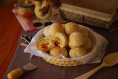 Panecillos rellenos de queso de Arzúa y chorizo. | Cuchillito y Tenedor